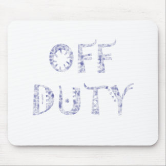 military Off Duty Black white Mouse Pad