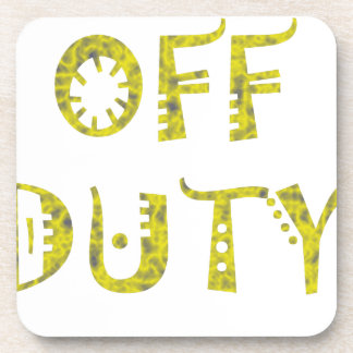 military Off Duty Black white yellow Drink Coaster