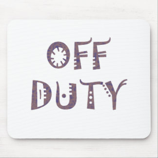 military Off Duty Black white yellow nice grey Mouse Pad