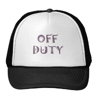 military Off Duty Black white yellow nice grey Trucker Hat