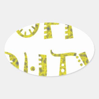 military Off Duty Black white yellow Sticker