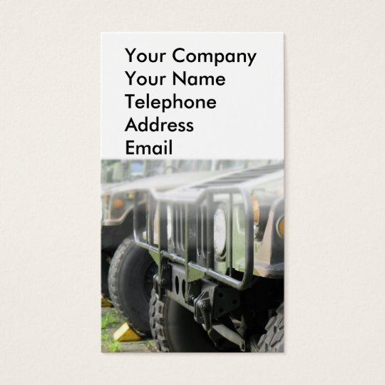 Military Off-Road Vehicles Business Card