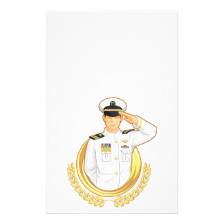 Military Officer in Salute Gesture Custom Flyer
