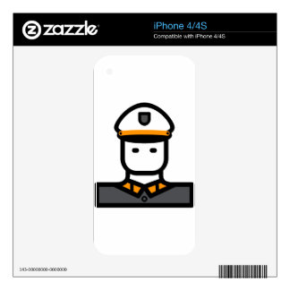Military Officer iPhone 4 Decal