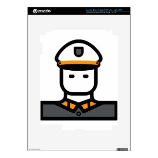 Military Officer Skin For iPad 3