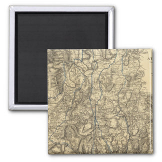 Military Operations of the Atlanta Campaign 2 Inch Square Magnet