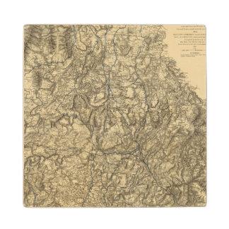 Military Operations of the Atlanta Campaign 2 Maple Wood Coaster
