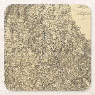 Military Operations of the Atlanta Campaign 2 Square Paper Coaster