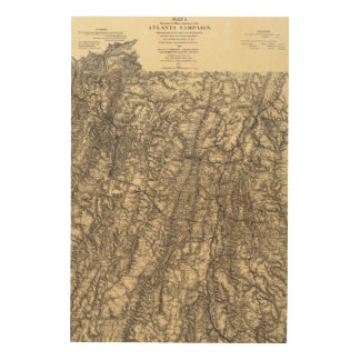 Military Operations of the Atlanta Campaign 2 Wood Wall Decor