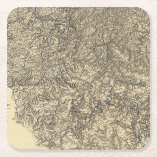 Military Operations of the Atlanta Campaign 3 Square Paper Coaster