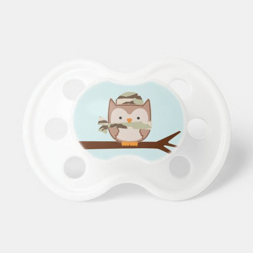 Military Owl BooginHead Pacifier
