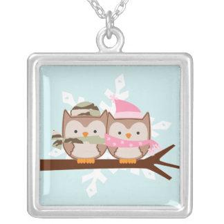 Military Owl Couple Pendant