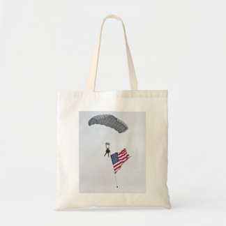 Military Parachute Guy  Budget Tote