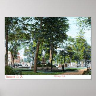 Military Park Newark NJ 1908 Vintage Posters