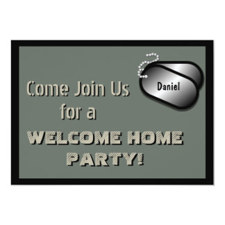 Military Party Welcome Home Celebration Custom Card