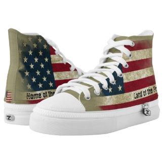 patriotic canvas shoes printed shoes zazzle