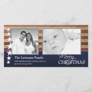 patriotic christmas cards zazzle