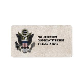 Military Patriotic Eagle Logo Seal Label