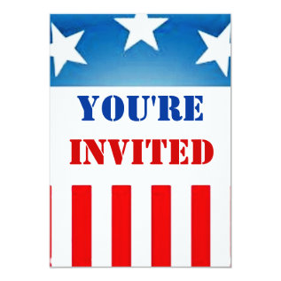 military patriotic invitation at Zazzle