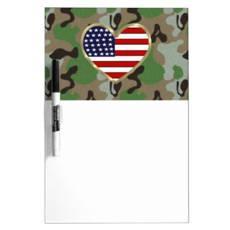 Military Patriotic USA Camo Dry-Erase Whiteboards