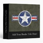 Military Patriotic Vintage Star 3 Ring Binder