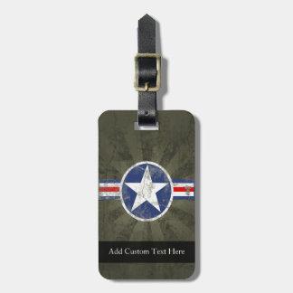 Military Patriotic Vintage Star Bag Tag
