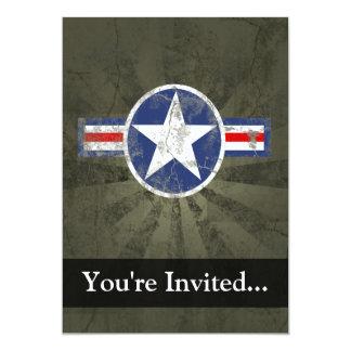 Military Patriotic Vintage Star Card