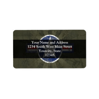 Military Patriotic Vintage Star Label