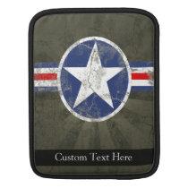 Military Patriotic Vintage Star Sleeve For iPads
