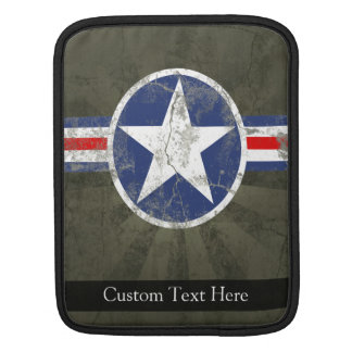 Military Patriotic Vintage Star Sleeve For iPads