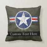 Military Patriotic Vintage Star Throw Pillow