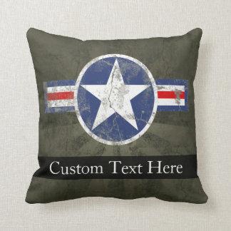 Military Patriotic Vintage Star Throw Pillow