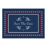 Military Patriotic Wedding Save The Dates Card