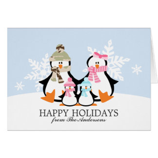 Military Penguin Family Christmas Cards