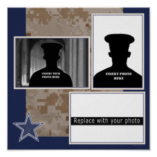 Military Photo Collage Poster