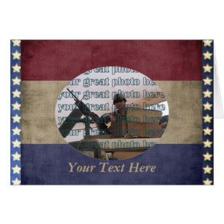 Military Photo Frame Custom Personalized Card