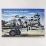 Military photo of a B-17 Flying Fortress airplane: Jigsaw Puzzle