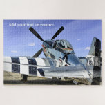 Military photo of a P-51 Mustang fighter airplane: Jigsaw Puzzle