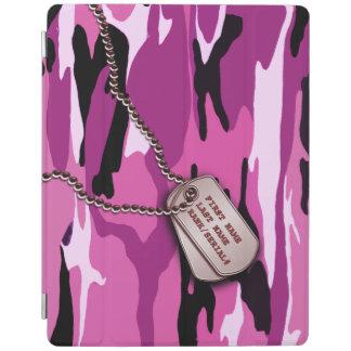 Military Pink Camo w Dog Tag iPad Cover