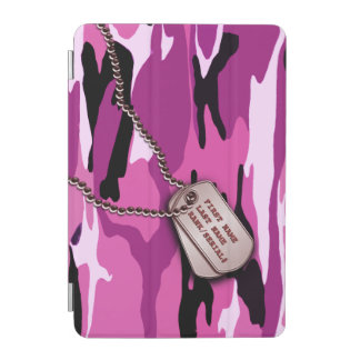Military Pink Camo w Dog Tag iPad Mini Cover