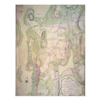 Military plan of Newport, 1777 Postcard