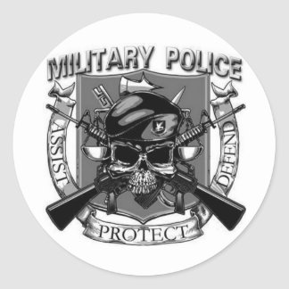 Military Police Classic Round Sticker