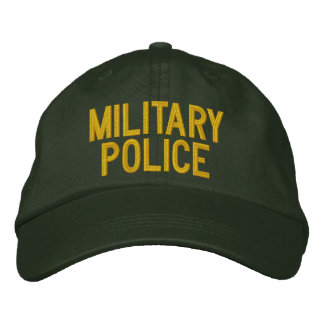 MILITARY POLICE EMBROIDERED BASEBALL HAT