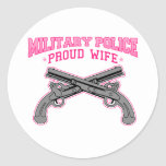 Military Police Proud Wife Classic Round Sticker