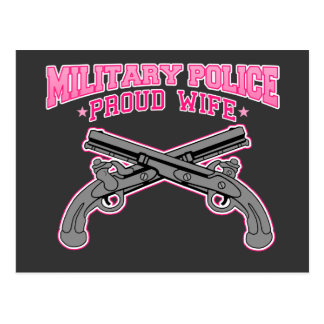Military Police Proud Wife Postcards