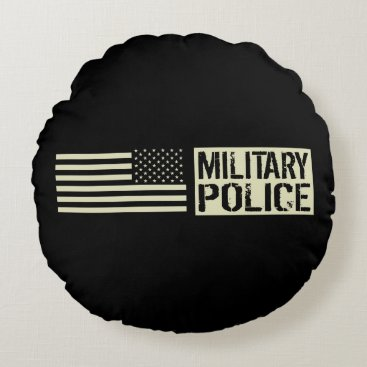 Military Police Round Pillow