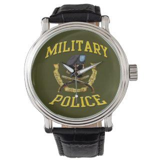 Military Police Skull w Crossed Pistols Wristwatch