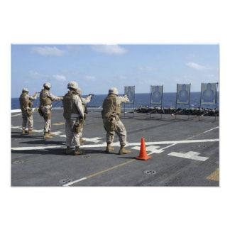Military policemen train with the Berretta M9 Photo Print