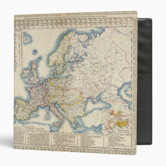 Military Political Map of Europe Binder