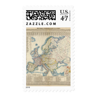 Military Political Map of Europe Postage